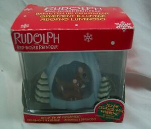 BABY-RUDOLPH-AND-HIS-MOM-IN-CAVE-3-034-LIGHT-UP-CHRISTMAS-ORNAMENT