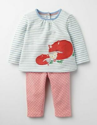 MINI Boden Baby GIRLS Fun SUPERSOFT Appliqué Play Set TOP/&PANTS BRAND NEW