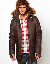 Superdry Mens Smoked Olive Alpine Hooded Jacket - Size S - NEW