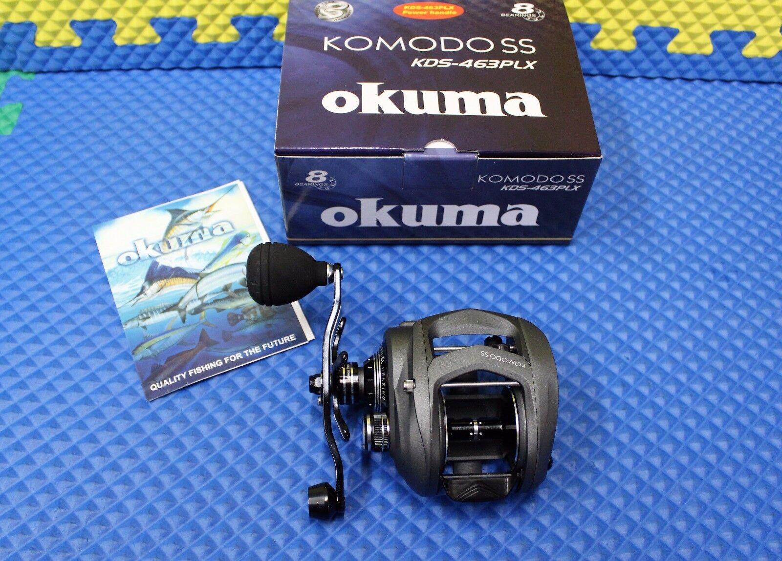 Okuma Komodo SS LeftHanded Low Profile Baitcast Reel wPower Handle KDS463PLX