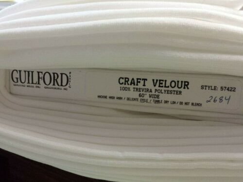 """White Robe Craft Velour 60/"""" Fabric Guilford Mills puppets angels fabric"""