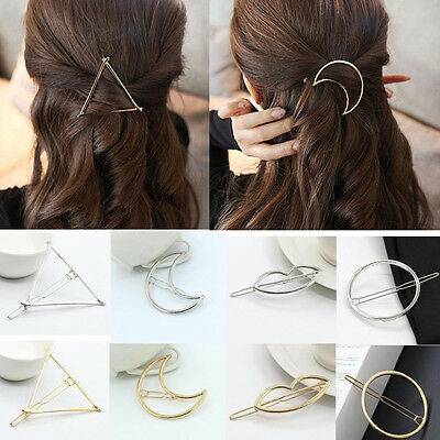 Fashion Charms Women Geometry Moon/Circle Hairpin Hair Clip Headwear Accessories