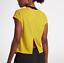Nike-Women-039-s-Yellow-Tailwind-Top-Activewear-10018-Size-XL thumbnail 2