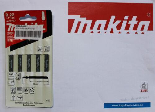 Makita Stichsägeblätter A-85715 A-85737 A-85759 5er Pack B-19 B-22 B-24 NEU
