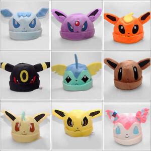 dbb61ae76ec Pokemon Go Eevee Umbreon Sylveon Snorlax New Soft Plush Costume Hat ...