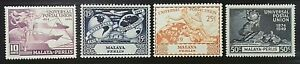 PERLIS-MALAYA-MALAYSIA-1949-75TH-ANNIV-OF-UPU-SG-63-66-MH-OG