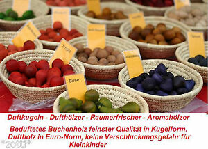 Scented-Wood-Ball-duftkugeln-Air-Freshener-aromaholzer-Since