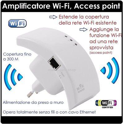 Onesto Amplificatore Wifi Repeater 300 Mbps Ripetitore Wifi Range Extender Lan Rete Sapore Fragrante (In)