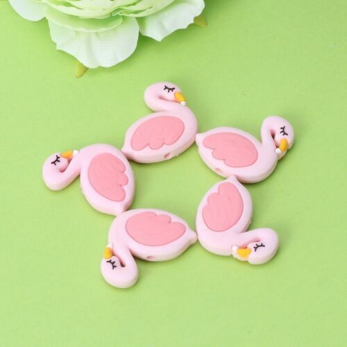 Silicone Beads Bird Cute Funny DIY Jewelry Making Baby Teether Toys Teething