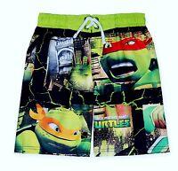 Mutant Ninja Turtles Uv-50 Bathing Suit Swim Trunks Boys Size 4 5 6 Or 7 $25