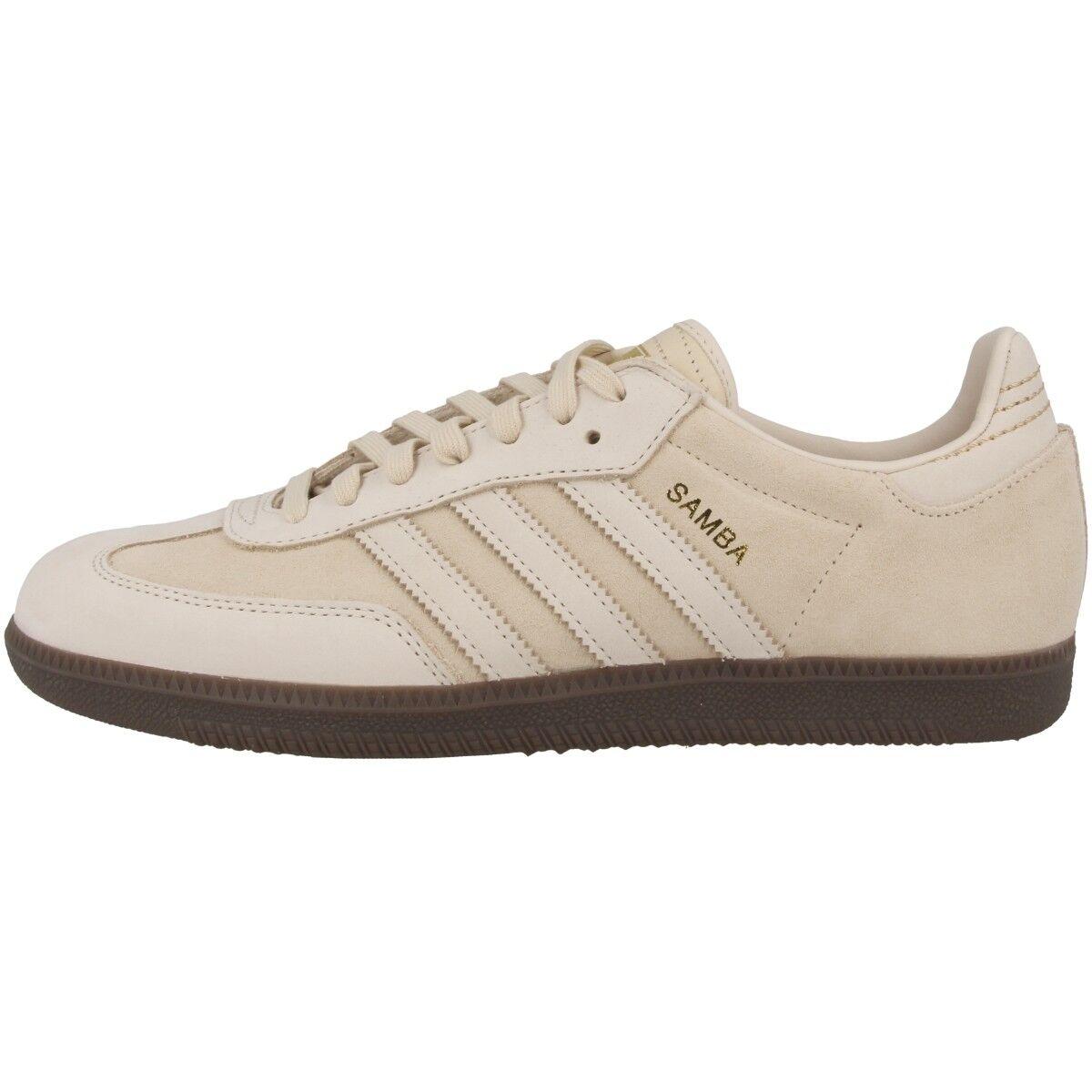 Adidas Samba FB Schuhe Originals Freizeit Sneaker linen gold metallic CQ2090