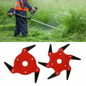 1pc Garden Power Tools 6t Blade Manganese Steel Mower Grass Trimmer Head Brush Cutter Blade Garden Lawn Machine Accessories New Garden Power Tools