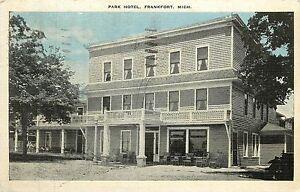 Image Is Loading Michigan Mi Frankfort Park Hotel 1938 Linen Postcard