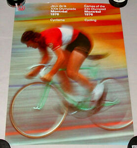Original-Montreal-76-Summer-Olympic-Official-Cycling-Poster