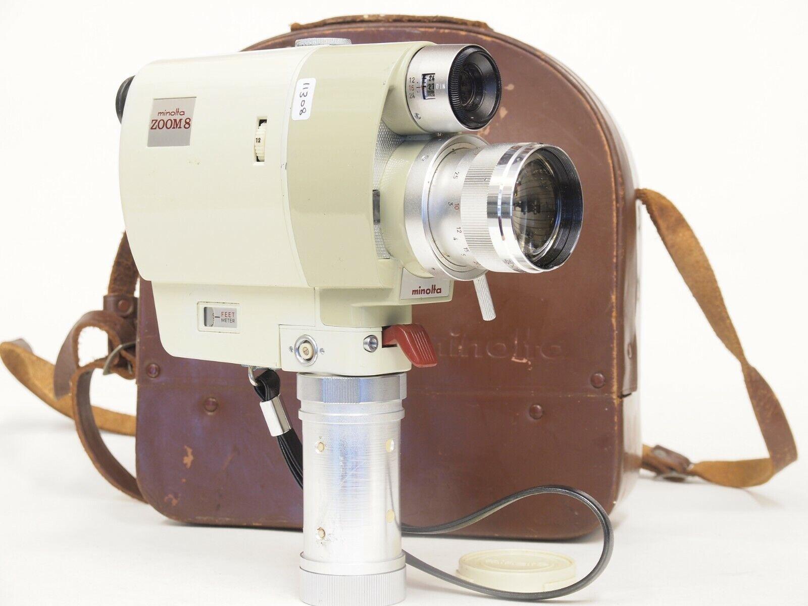 Minolta Zoom 8 Cine/Movie Camera with Leather Case. Stock No u11308
