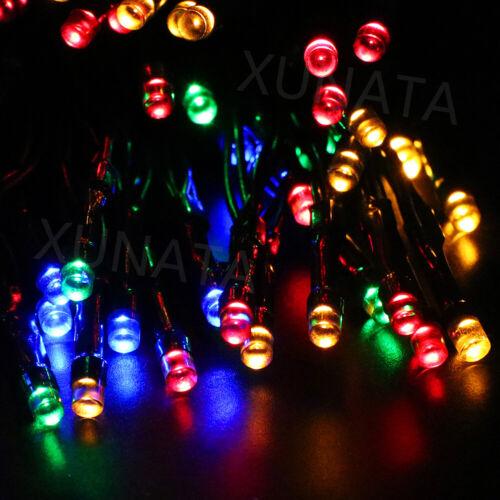 LED Solar Fairy Light String Indoor Outdoor Halloween Christmas Party Decor Lamp
