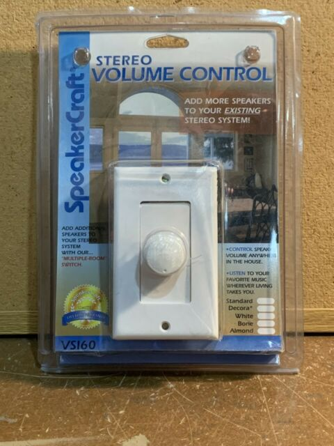 SpeakerCraft VSI60 Wall Stereo Volume Control WHITE