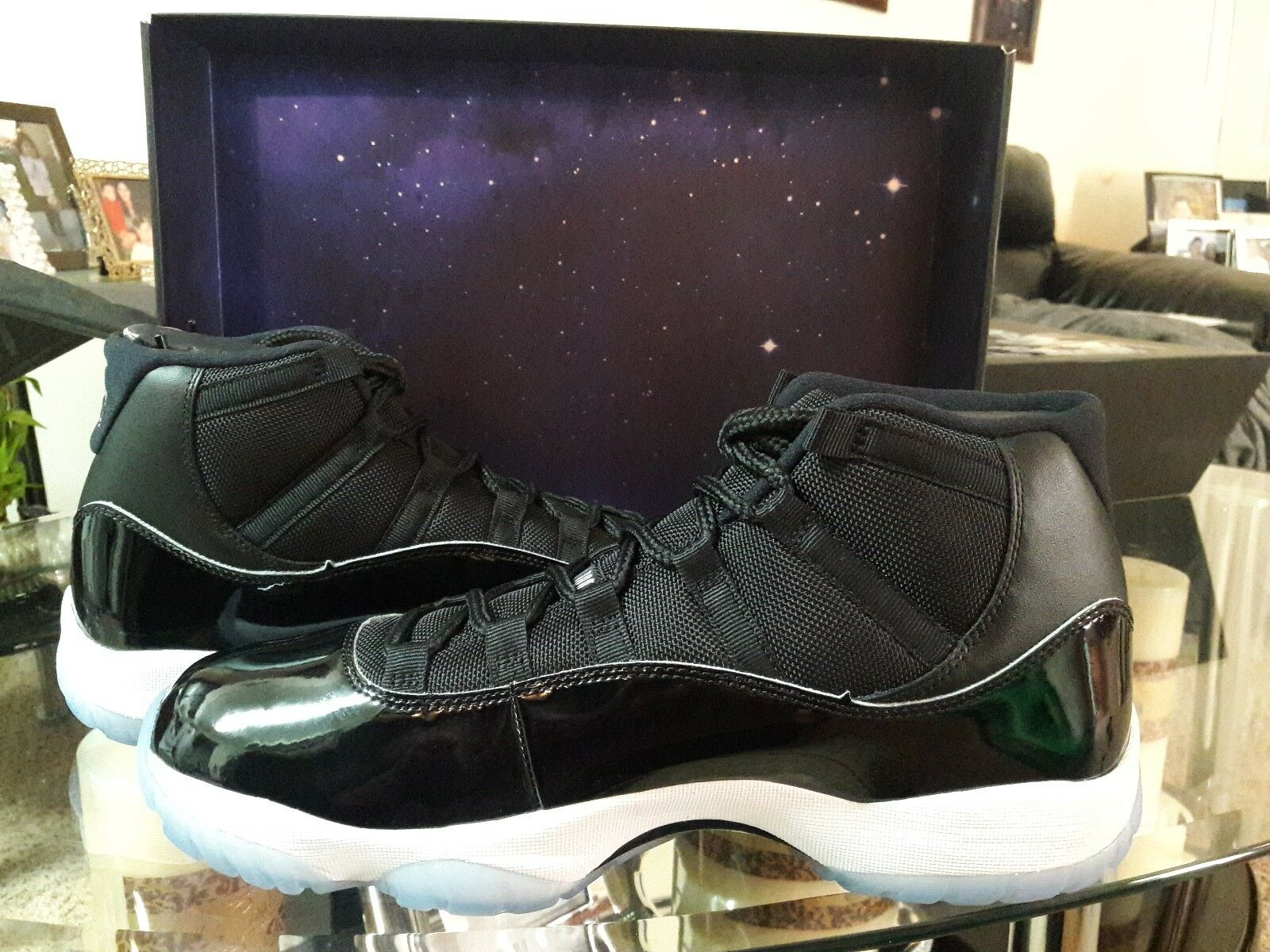 Nike Air Jordan 11 Retro XI Space Jam Black 378037-003 Mens AND GS