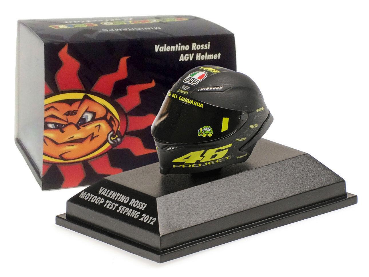 Minichamps Valentino Rossi Helmet - MotoGP Test Sepang 2012 1 8 Scale