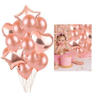 Wedding-Supply-Rose-Gold-Balloon-Confetti-Foil-Happy-Birthday-Party-Decorations