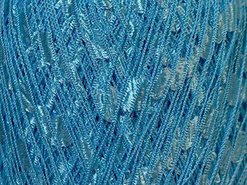 Baby Blue Ladder Ribbon Yarn Ice Trellis 34119 50 Gram 164 Yards
