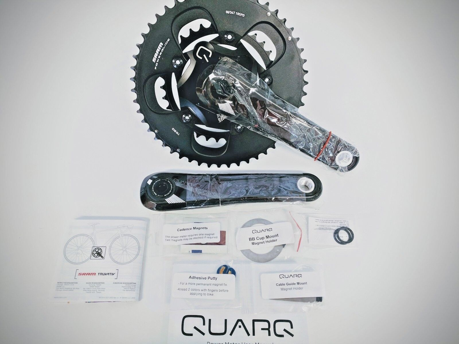 SRAM Quarq Elsa Powermeter GXP Road Crankset 170mm Brand New in box
