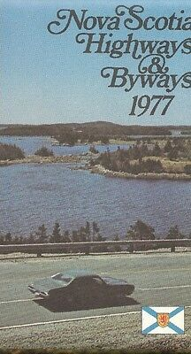 1977 Official Highway Road Map NOVA SCOTIA Cape Breton Halifax Canada  Dartmouth | eBay