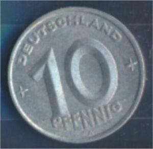 DDR-Jagernr-1503-1949-A-UNC-Aluminum-1949-10-Pfennig-later-on-gear-7849382