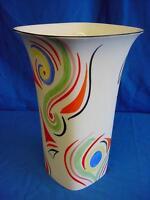 Emma Bailey Abstract Swirls Square Vase - English Made Staffordshire Bone China
