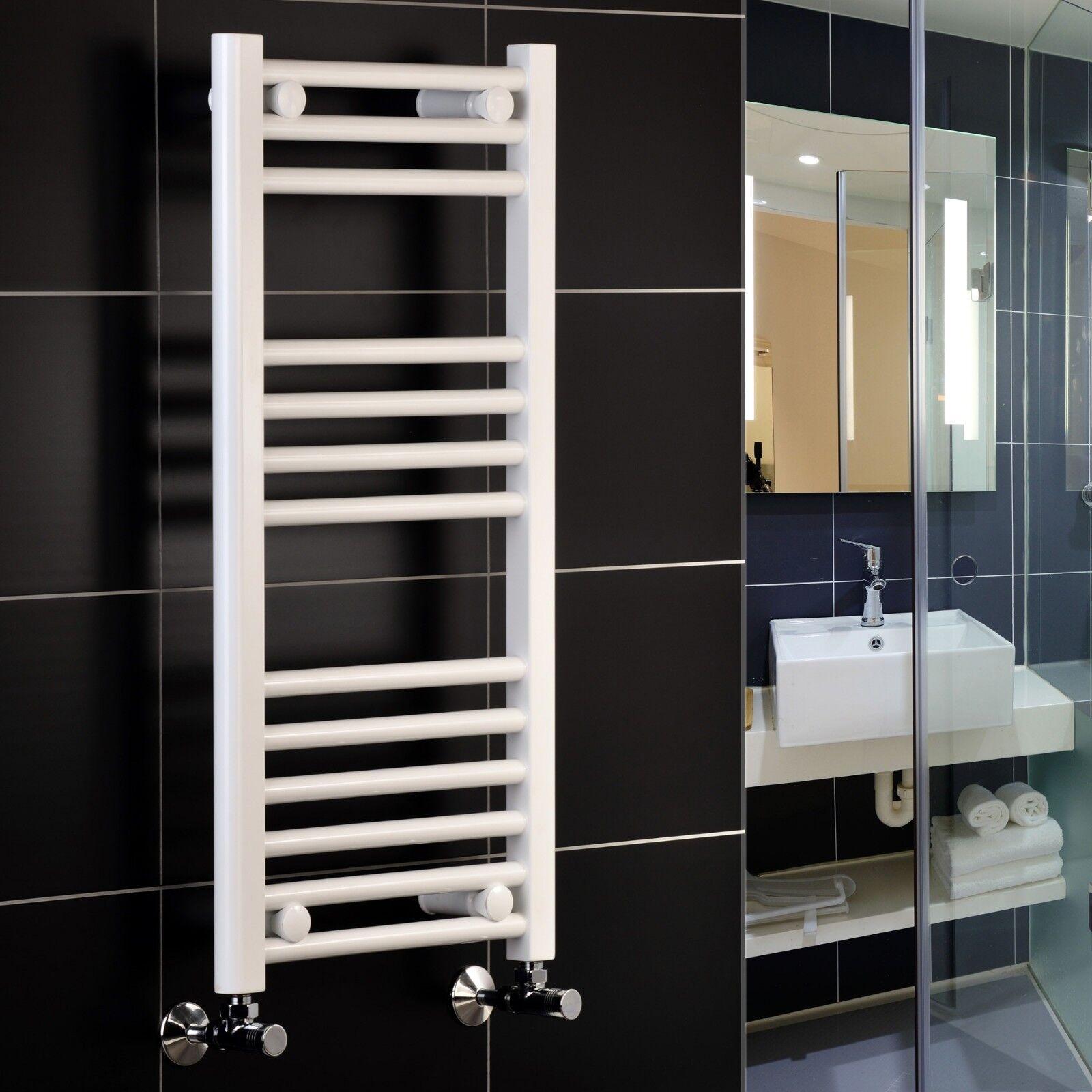 Weiß Heated Towel Rail Towel Warmer 400mm 500mm 600mm wide Central Heating