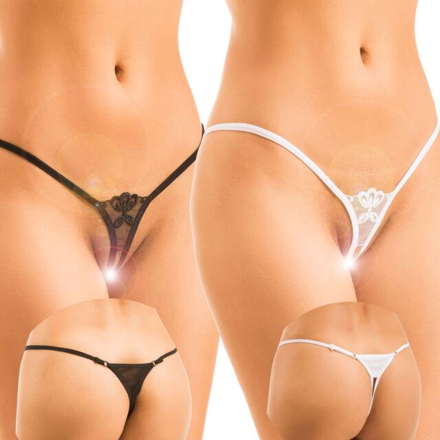 BIS XL MADE IN E.U OUVERT EROTIK SEXY STRING  NEU LINGERIE DESSOUS SCHWARZ WEISS