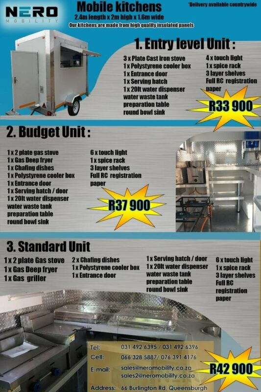 Mobile refrigeration trailer - mobile kitchen trailer - coldrooms - kitchen -catering business