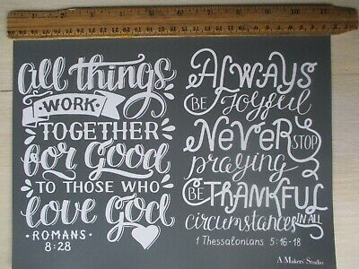 LOT OF 4 transfer stencil Chalk Couture style TO THE LORD SCRIPTURE 4 COLLEC