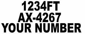 2x SSR NUMBER FOR BOAT UK STANDARD WATERPROOF VINYL DECAL STICKER CUSTOM DESIGN