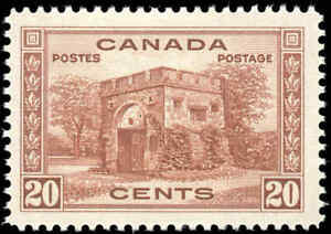 1938-Mint-H-Canada-F-VF-Scott-243-20c-Pictorial-Issue-Stamp
