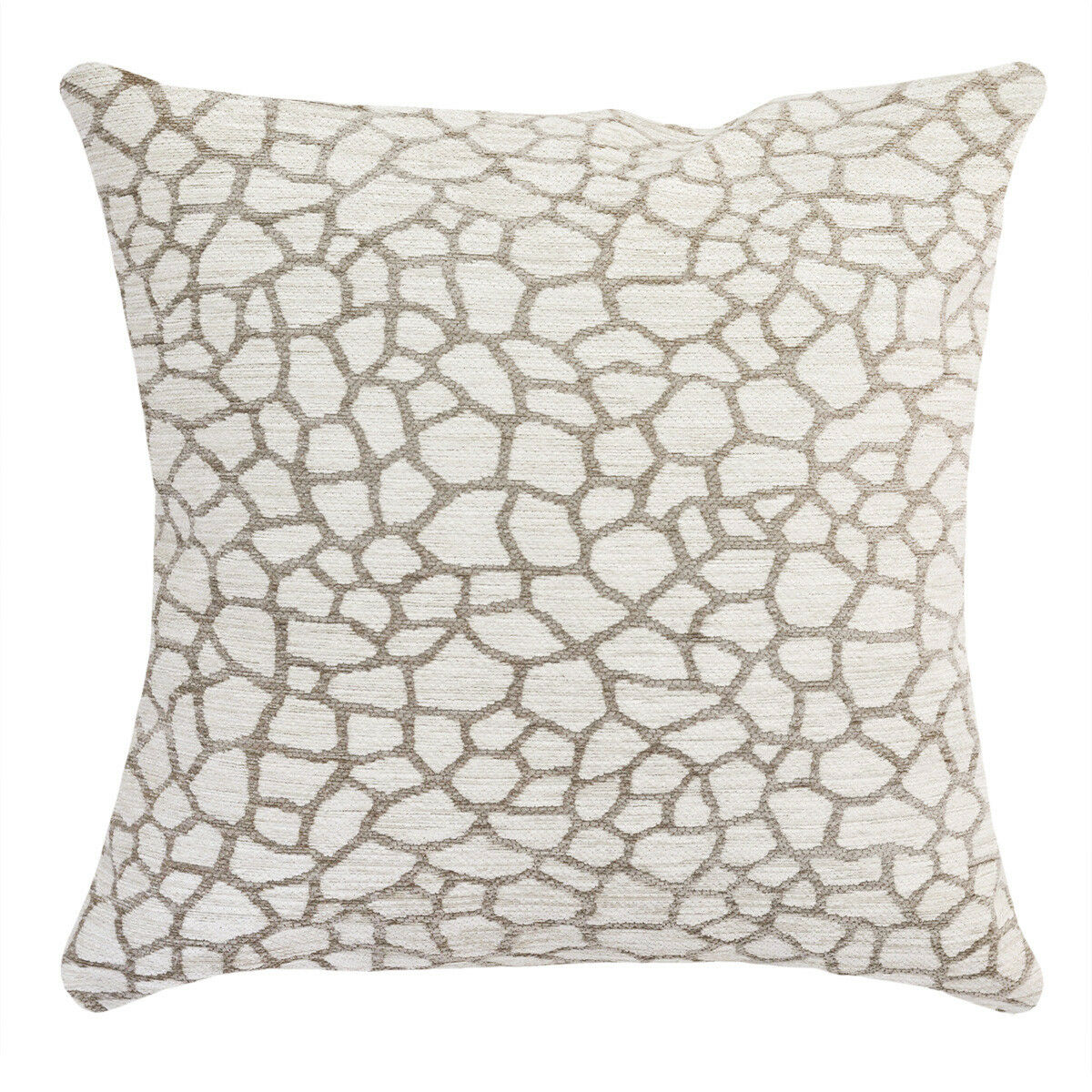Ivory Solid Colour Double Sided Burlap Linen Look Pillow Cushion Cover 45 cm