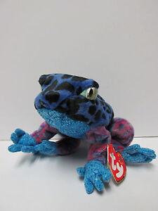 208fc8234a5 Ty Beanie Baby Dart Blue Tree Frog PRISTINE-RARE   inside Tush
