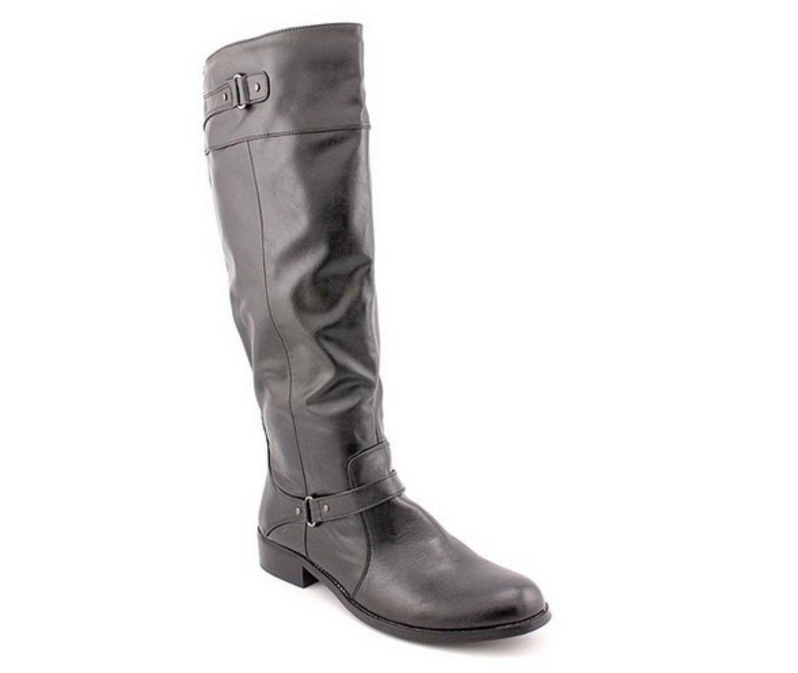 Alfani Jessa Women's Knee High,Wide Calf Boots, Black, Size 6.5M New