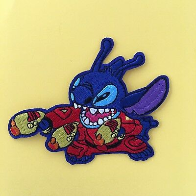DISNEY STITCH ALIEN CHARACTER  EMBROIDERED APPLIQUÉ PATCH SEW IRON ON #187
