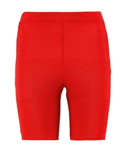 Womens Ribbed Stretchy Active wear Yoga Dance Gym Hot Pants Biker Cycling Shorts