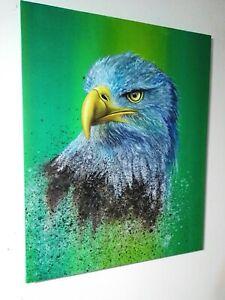 Peinture-huile-sur-toile-tableau-surrealiste-annee-2020-aigle-format-40-50