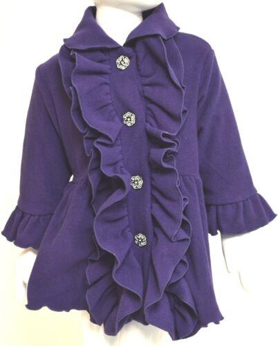 MACK /& CO Girls Double Ruffle COAT Toddler DRESSY PurpleAge 2 Years