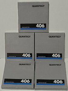 "Lot  of 5 Quantegy 406 Mastering Audio Tape 5"" Reel"