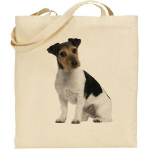 CS Wire hair Jack Russell Terrier dog breed cotton shopping shoulder ... 46a22a6a1b8e9
