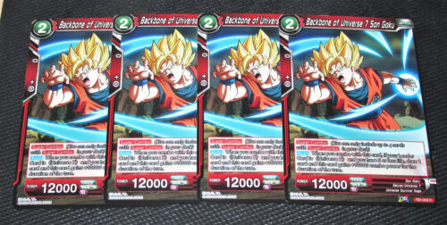 x4 Backbone of Universe 7 Son Goku TB1-003 C Dragon Ball Super TCG NEAR MINT