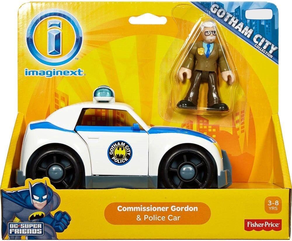 Gotham city imaginext commissioner gordon & polizeiauto 3 - zoll - bild setzen
