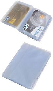 Porta carte di credito tessere soldi card 24 posti trasparente 11 x 6,5 x1 cm