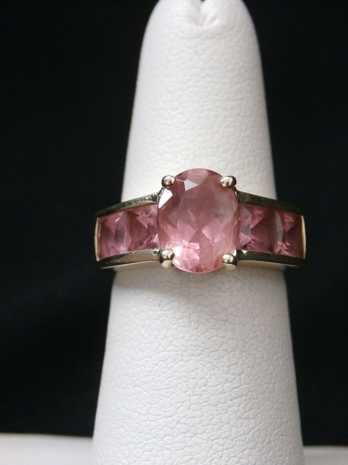 Beautiful 14k Yellow gold Pink Solitaire Tourmaline Ring. Make Offer