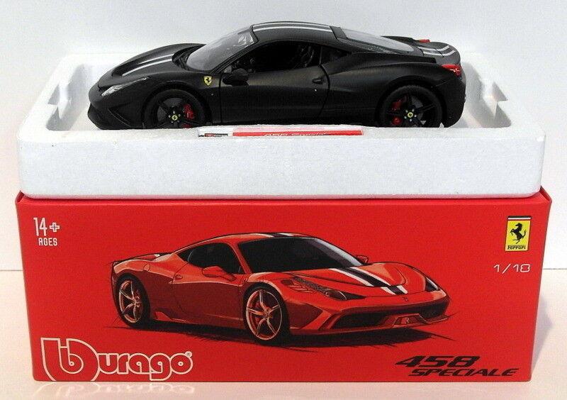 calidad fantástica Burago Diecast Escala Escala Escala 1 18 18-16903B - Negro-Ferrari 458 Speciale  descuentos y mas