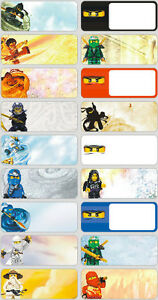 18 Lego Ninjago Personalised Name Label Sticker School Book Vinyl